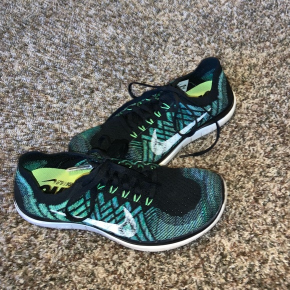 release date: b0034 ca25c Nike Flyknit 4.0 black green shoes women 9 men 7.5